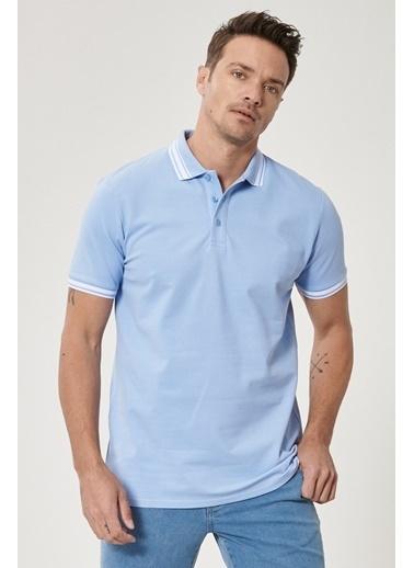 Altınyıldız Classics Slim Fit Dar Kesim %100 Koton Polo Yaka Tişört 4A4821200055 Mavi